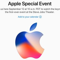 Evento apple 2017